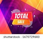 total sale poster in trendy... | Shutterstock .eps vector #1670729683