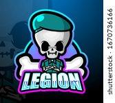 Legion Skull Mascot Esport Logo ...