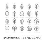 spring leaf outline line icon... | Shutterstock .eps vector #1670736790