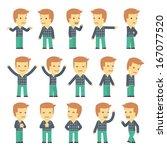 urban character set in... | Shutterstock .eps vector #167077520
