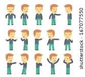 urban character set in... | Shutterstock .eps vector #167077550
