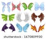 mythical animal wings set ... | Shutterstock .eps vector #1670809930
