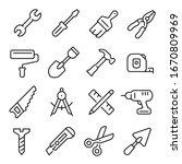 work tool line icon  industrial ...   Shutterstock .eps vector #1670809969