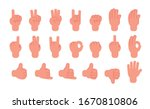gesturing hands. hand with... | Shutterstock .eps vector #1670810806