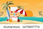 Summer Sale Vector Banner...