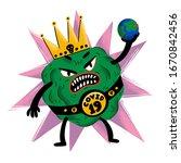 coronavirus concept. scary...   Shutterstock .eps vector #1670842456