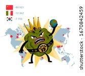 coronavirus concept. a scary...   Shutterstock .eps vector #1670842459