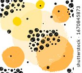 black and yellow  orange spots... | Shutterstock .eps vector #1670845873