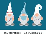 nurse  doctor gnomes with... | Shutterstock .eps vector #1670856916