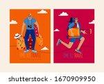 trendy travel illustration...   Shutterstock .eps vector #1670909950