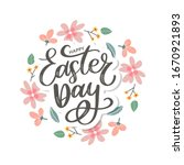 colorful happy easter greeting...   Shutterstock .eps vector #1670921893