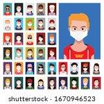 avatars in white medical face...   Shutterstock .eps vector #1670946523