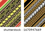 polynesian motif background... | Shutterstock .eps vector #1670947669