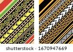 polynesian motif background... | Shutterstock .eps vector #1670947669