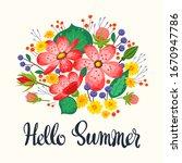 hello summer flat vector...   Shutterstock .eps vector #1670947786
