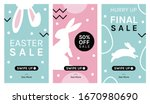 easter sale. instagram stories... | Shutterstock .eps vector #1670980690