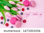 happy mothers day text. tulips... | Shutterstock . vector #1671001036