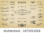 this image is a set of vintage... | Shutterstock .eps vector #1671011026