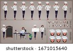 woman chef or cook character... | Shutterstock .eps vector #1671015640