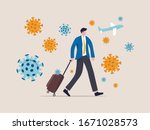 covid 19 virus impact travel... | Shutterstock .eps vector #1671028573