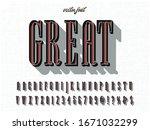 .retro typography.vector... | Shutterstock .eps vector #1671032299