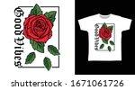 good vibes rose drawing art...   Shutterstock .eps vector #1671061726