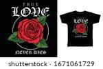 true love rose hand drawing art ...   Shutterstock .eps vector #1671061729