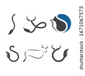 cow tail  logo vector... | Shutterstock .eps vector #1671067573