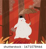 animal background stylized bear ...   Shutterstock . vector #1671078466