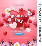 happy mother's day banner...   Shutterstock .eps vector #1671092143