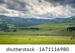 Lamar Valley With Soda Butte...