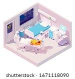 vector isometric man... | Shutterstock .eps vector #1671118090