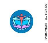people education logo design... | Shutterstock . vector #1671126529