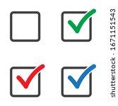 checkbox set with blank and... | Shutterstock .eps vector #1671151543