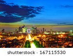 view of paris from the arc de... | Shutterstock . vector #167115530