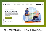 volunteer social worker serving ... | Shutterstock .eps vector #1671163666