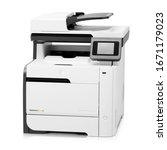 laser printer isolated on white.... | Shutterstock . vector #1671179023