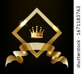 crown in a gold diamond with a...   Shutterstock .eps vector #1671183763