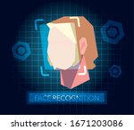 facial recognition technology ... | Shutterstock .eps vector #1671203086