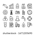 set of icons oil   line style... | Shutterstock .eps vector #1671205690