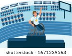 physically disabled sportsman...   Shutterstock .eps vector #1671239563