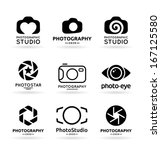 vector icons for photographers  ... | Shutterstock .eps vector #167125580