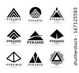 pyramids  4  | Shutterstock .eps vector #167125583