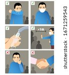 set of images with a man... | Shutterstock .eps vector #1671259543