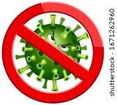 coronavirus evil virus cartoon... | Shutterstock .eps vector #1671262960