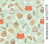 Seamless Pattern With A Teapots ...