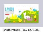 happy easter vector website... | Shutterstock .eps vector #1671278683