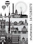 vertical berlin travel... | Shutterstock .eps vector #1671282073