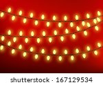Christmas Lights On Red...