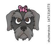 cute cartoon schnauzer puppy...   Shutterstock .eps vector #1671316573